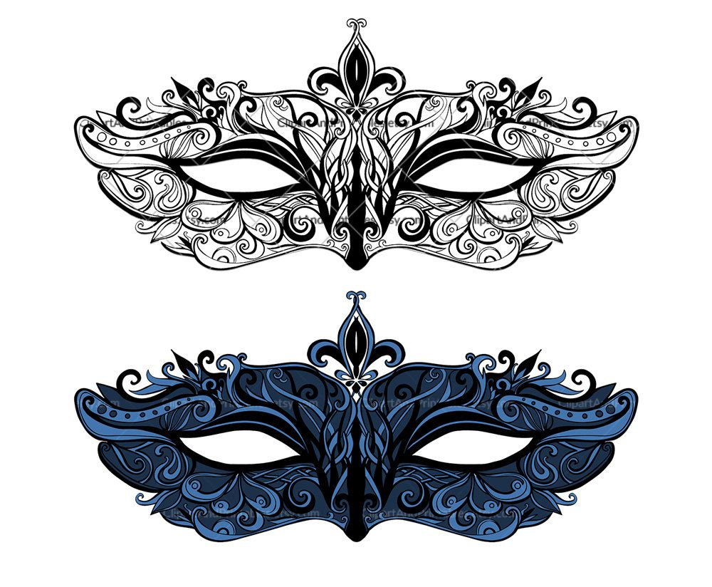 75 Awesome Colorful Masquerade Masks Clip Art
