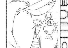 Zig And Sharko Coloring Zig And Sharko Games Nemo Coloring Pages Coloring Pages Coloring Pages For Kids