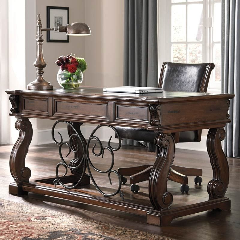 The Alymere Home Office Desk From Ashley Furniture Comes