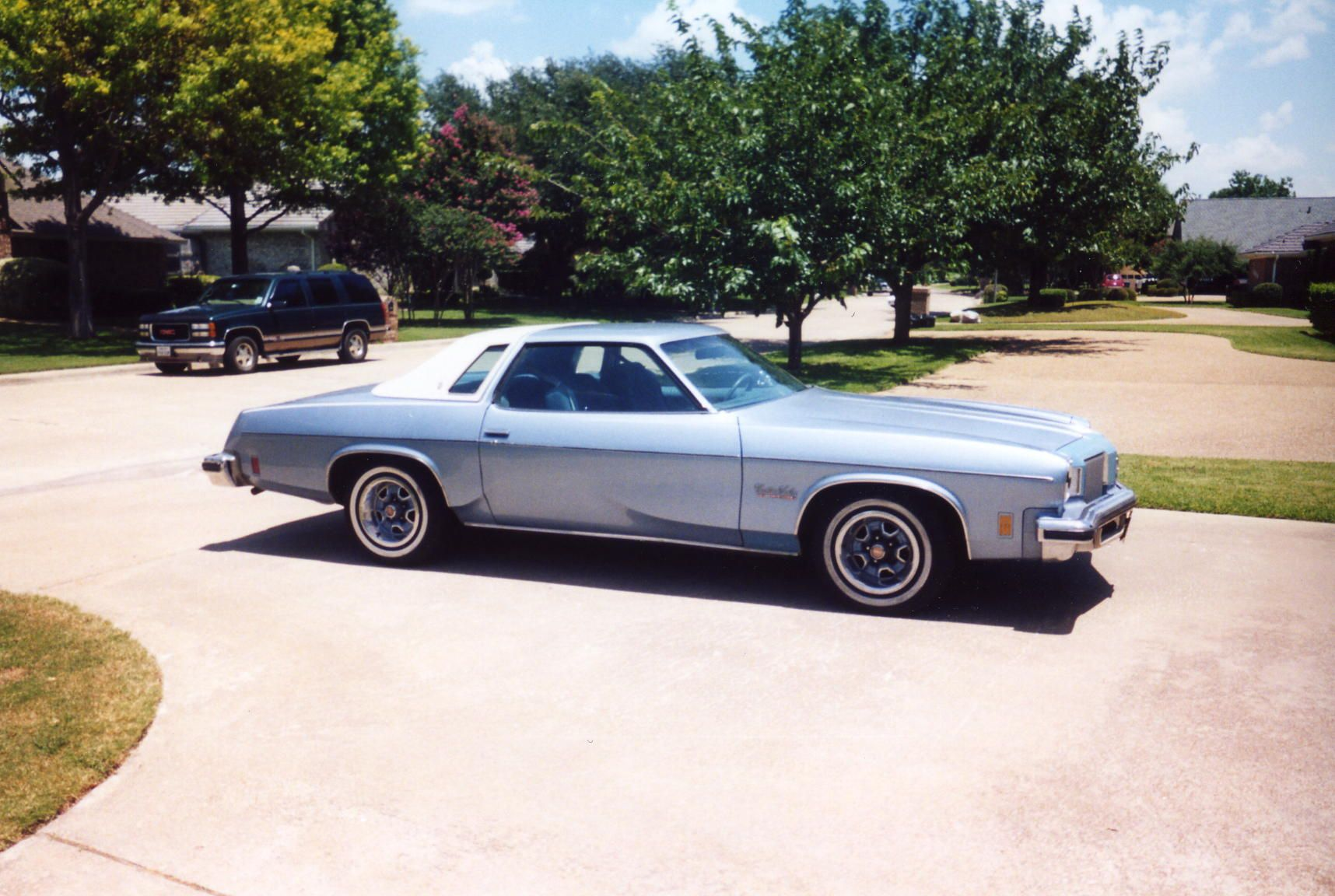 74 olds cutlass salon we had a silver one with burgundy for 1974 cutlass salon