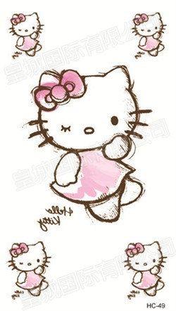 Hello Kitty Ink Temporary Tattoo by VannisGift on Etsy, $1.50