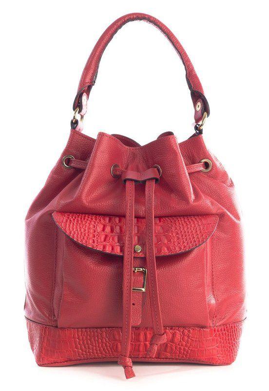 legítimo Bolsa bolso com couro vermelha saco Pinterest em qwST4rXw
