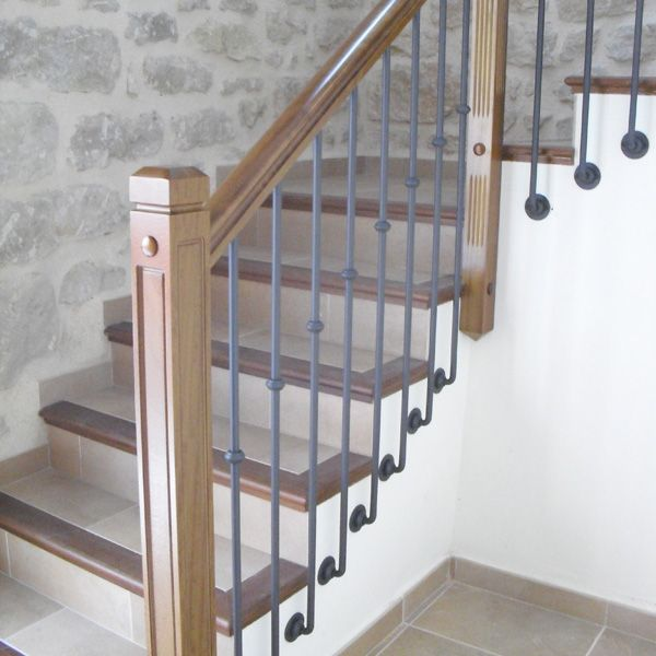 Resultado de imagen para barandas de madera escaleras - Baranda de escalera ...