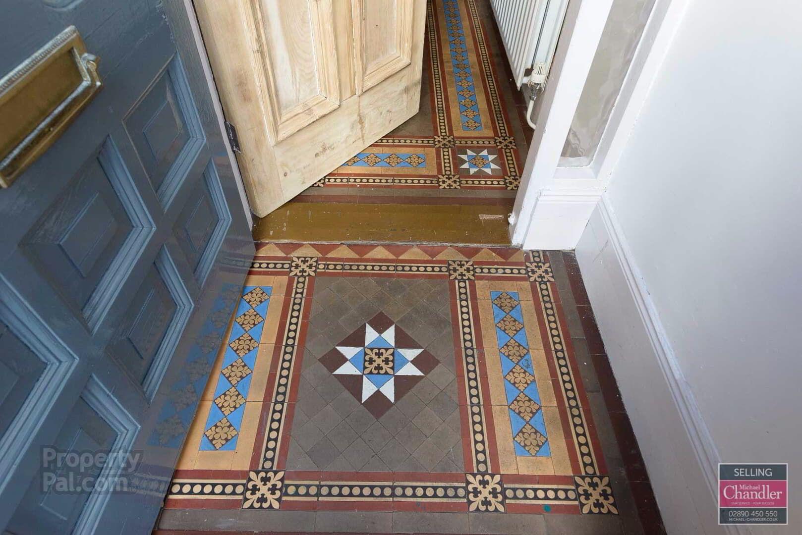 100 North Parade Belfast Tiles Hallway