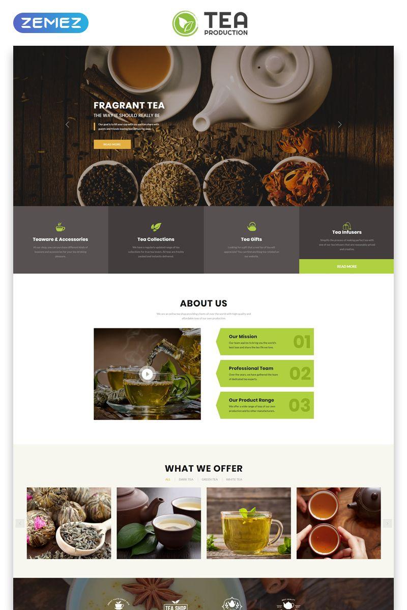 Tea Production Tea Shop Multipage Modern Html Website Template Tea Shop Tea Website Tea Shop Restaurant Website Design Tea Website