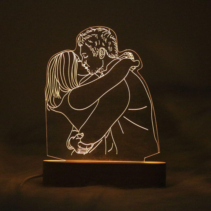 Custom Photo 3d Lamp Boyfriend Personalized Gifts Cute Couple Gifts Customized Photo Gifts