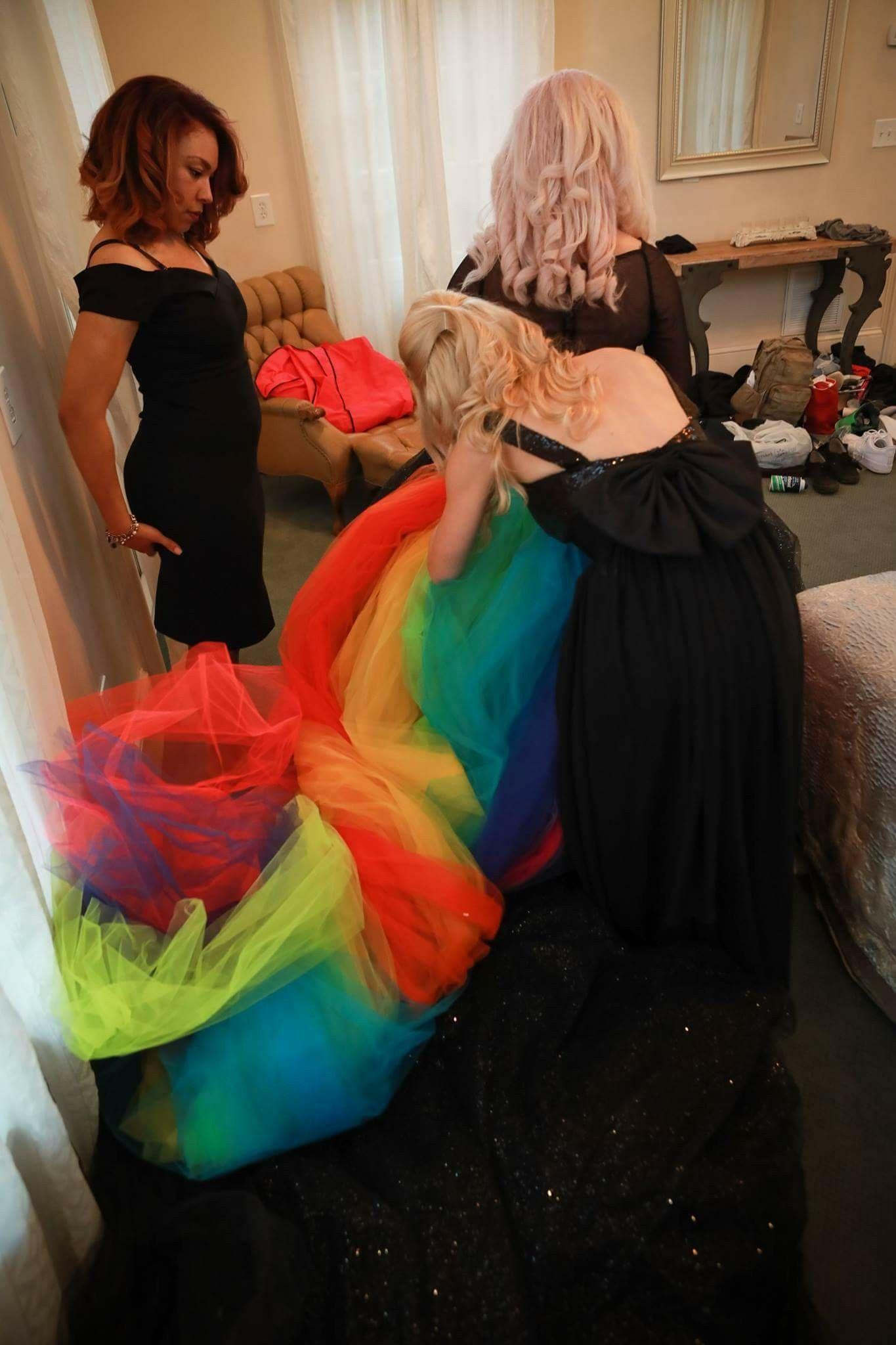 Rainbow Black Glitter Wedding Dress Rainbow Wedding Dress Rainbow Wedding Black Bridal [ 2048 x 1365 Pixel ]