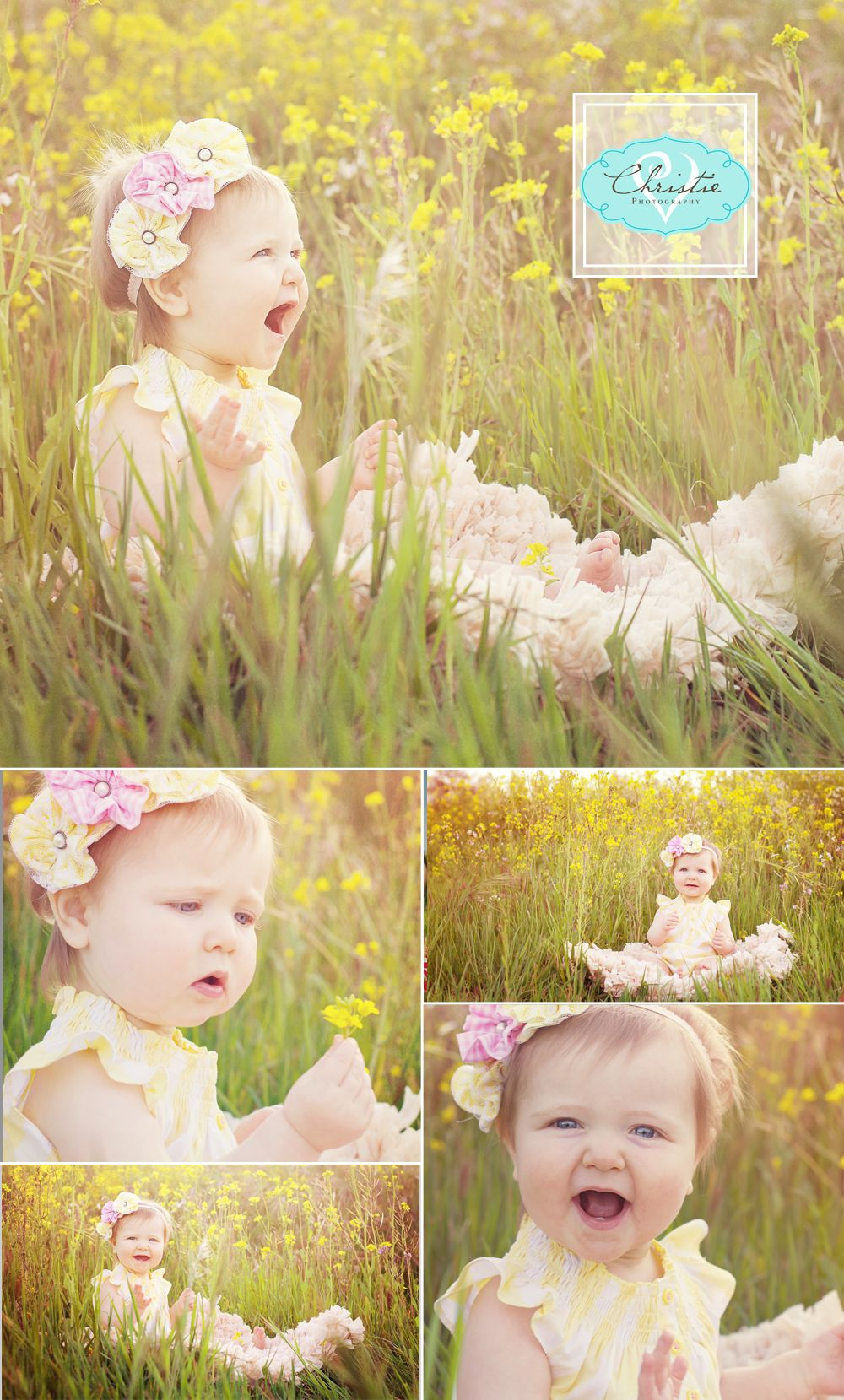 Wildflower girl first birthday photo shoot christie v com