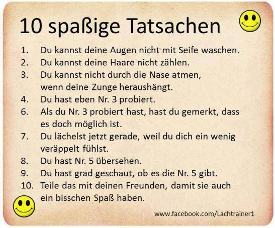Lustige Tatsachen | Fun | Pinterest | Humor and Thoughts
