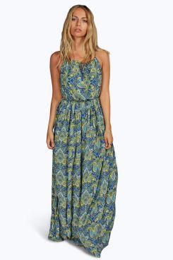 5072bb236c27 Chelsea Woven Keyhole Detail Printed Maxi Dress at boohoo.com ...