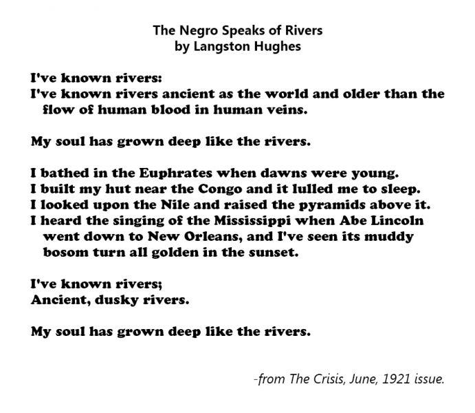 the negro speaks of rivers tone