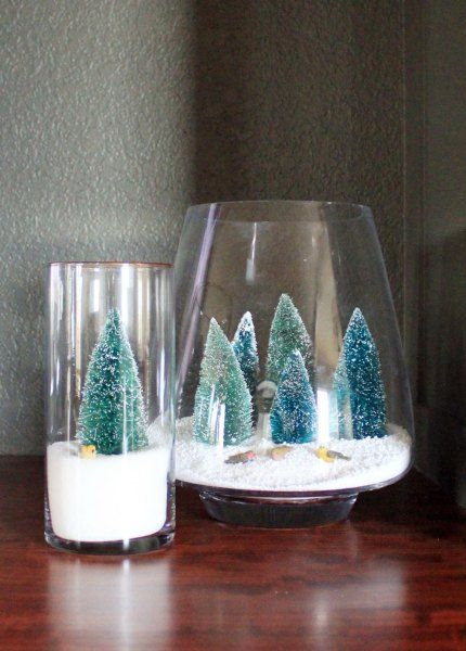 Snowy Scene Frozen Christmas Christmas Projects Diy Diy