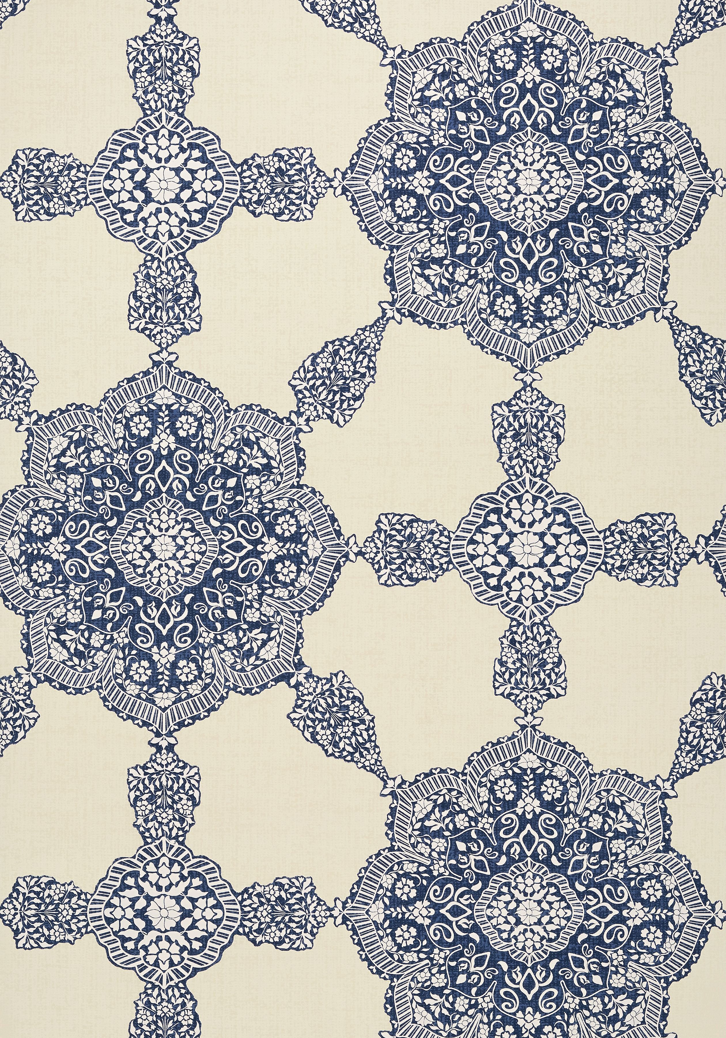 MEDALLION PAISLEY, Navy, T88729, Collection Trade Routes