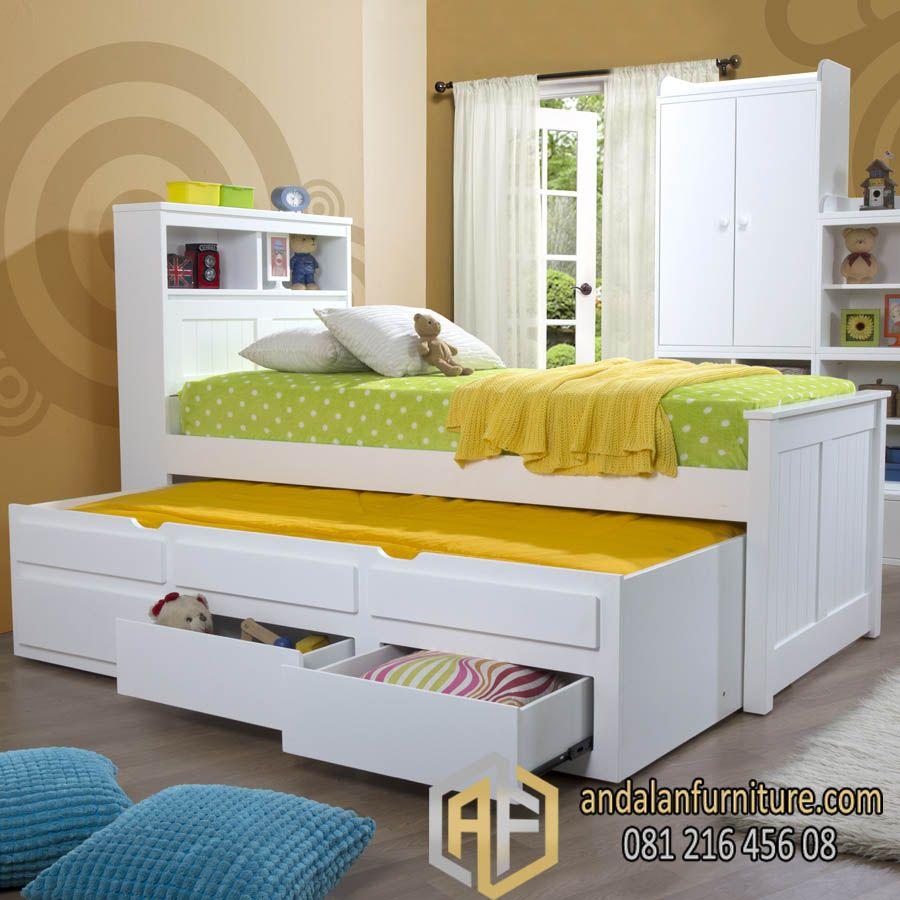 Tempat Tidur Sorong Minimalis Laci Rak Tempat Tidur Laci Mebel