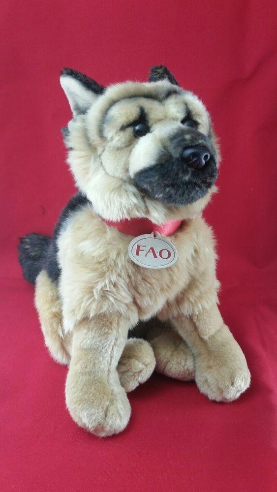 Fao Schwarz 12 Inch Show Dog Plush Stuffed Animal Dog German
