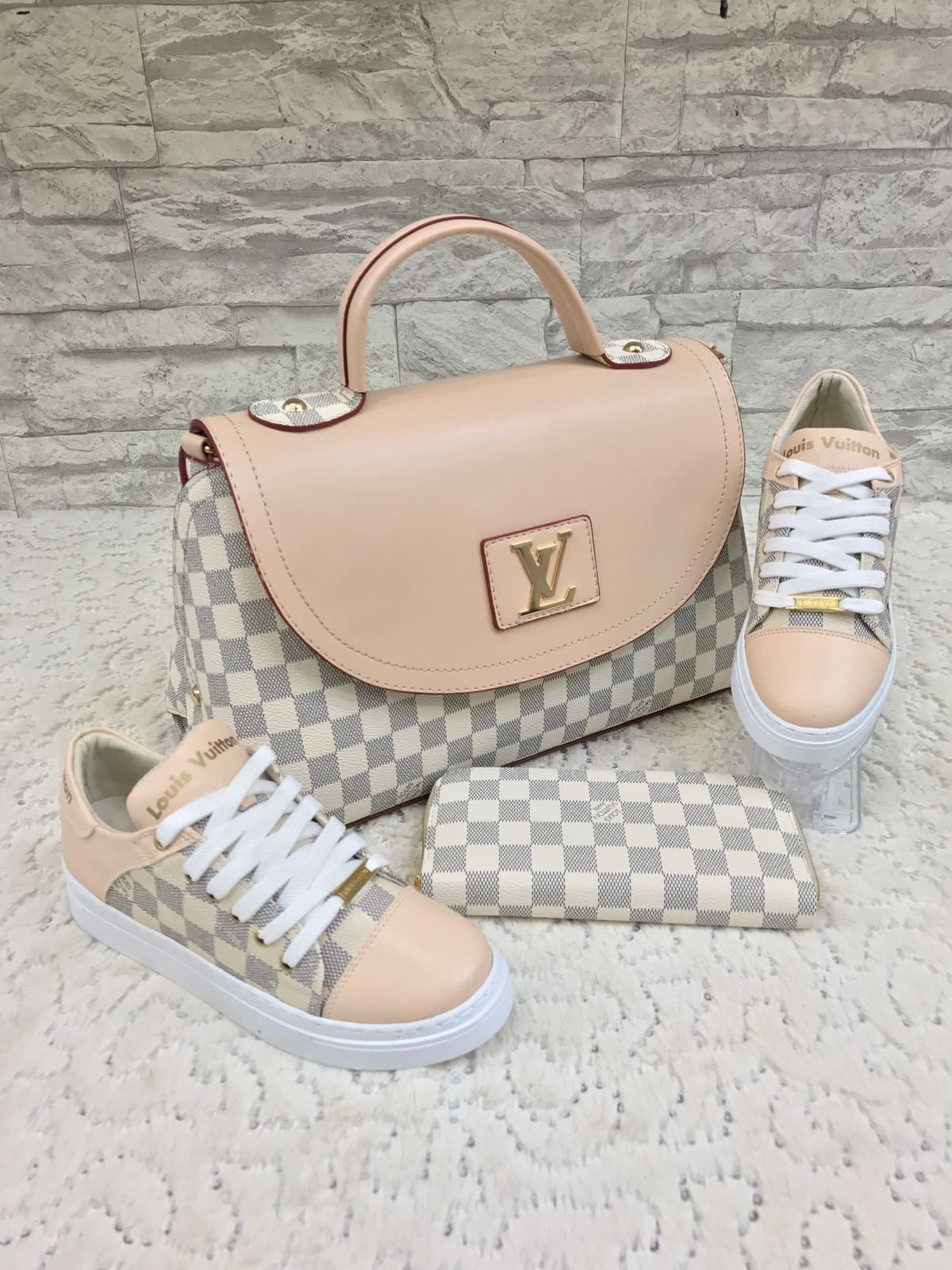 louis vuitton bag and matching shoes