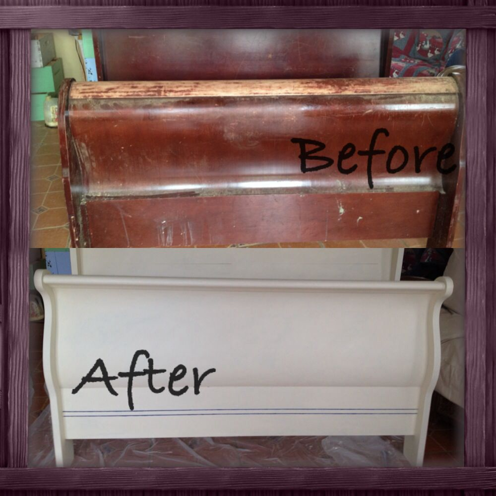 Chalk Paint! DYI Refurbished Sleigh Bed.