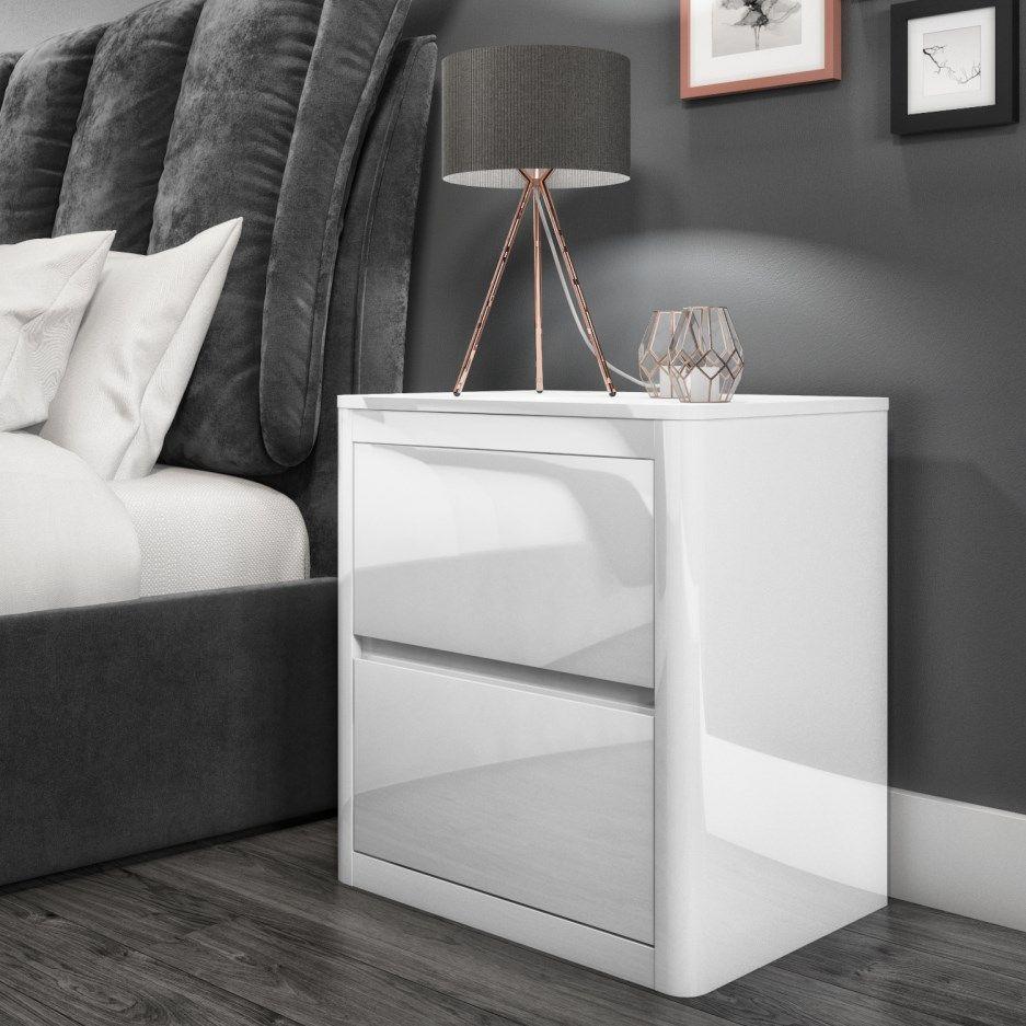 White High Gloss Bedside Table White Gloss Bedroom Furniture Side Tables Bedroom White Bedside Table