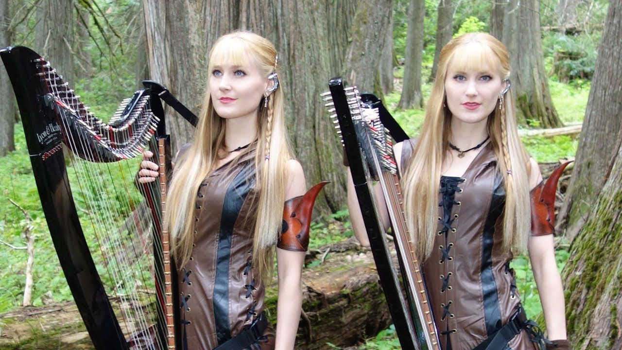 The Dragonborn Comes Skyrim Oblivion Harp Twins Camille And
