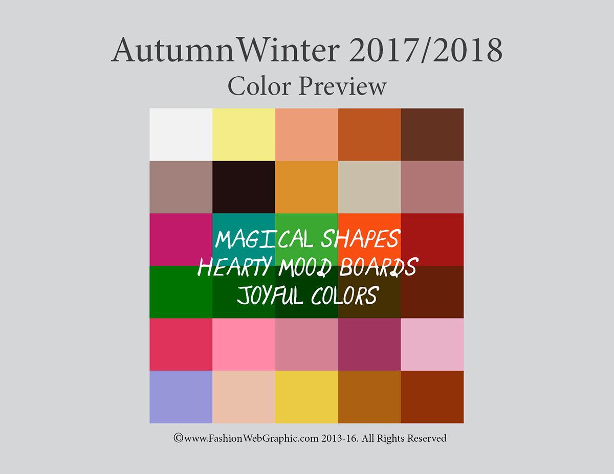 Color trends for autumn winter 2018 my blog for 2018 winter colors