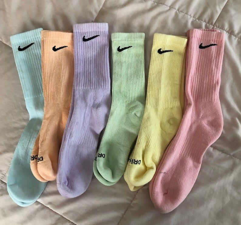 Pastel Dyed Nike Socks in 2020 | Sock outfits, Nike socks