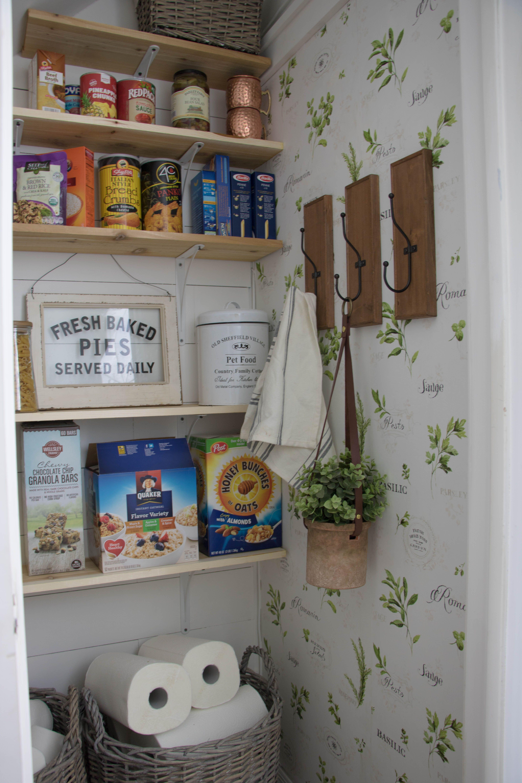 Farmhouse Pantry Seeking Lavender Lane Pantry Wallpaper Farmhouse Pantry Country Cottage Decor