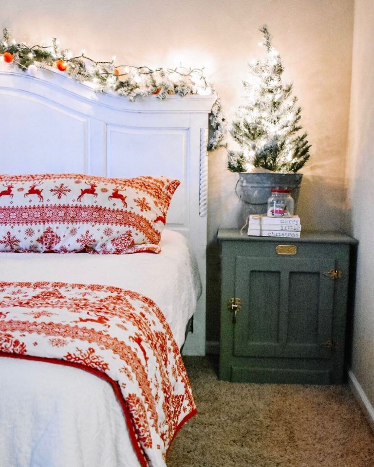 Pin On Christmas Decorating Ideas Christmas decorations for bedroom 2021