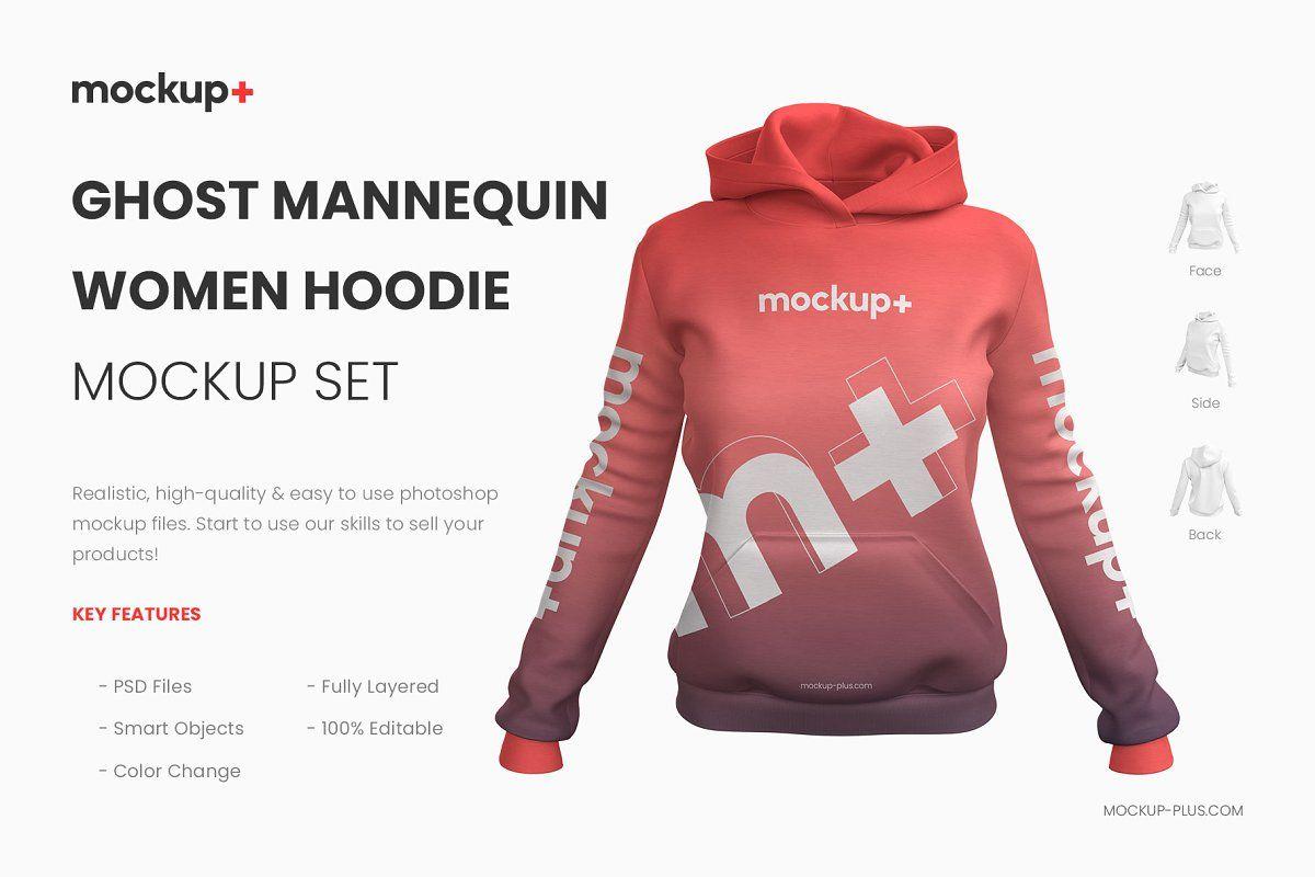 Download Realistic Women Hoodie Mockup Hoodie Mockup Hoodies Womens Hoodies