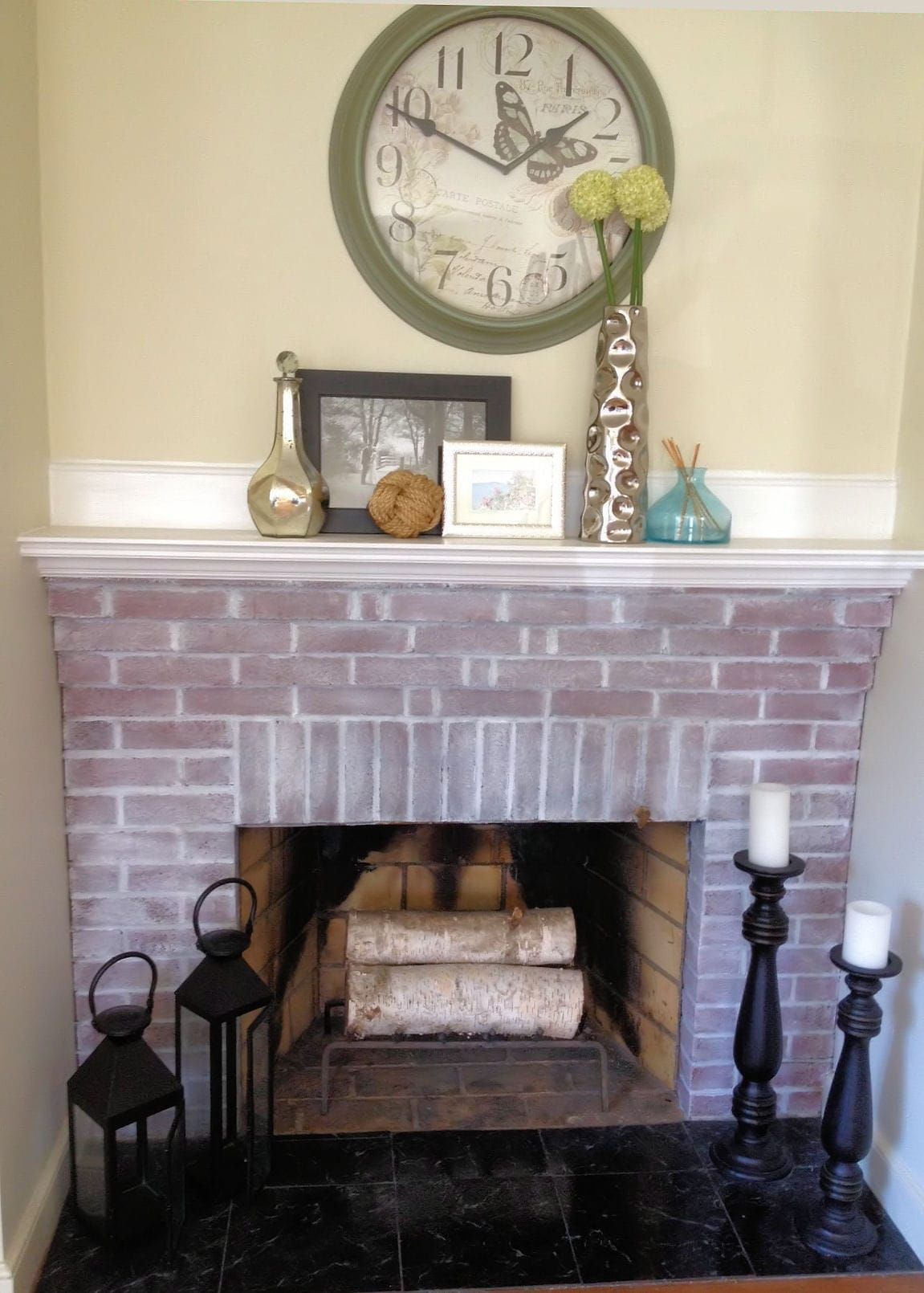 How to Whitewash a Brick Fireplace An Easy Step by Step