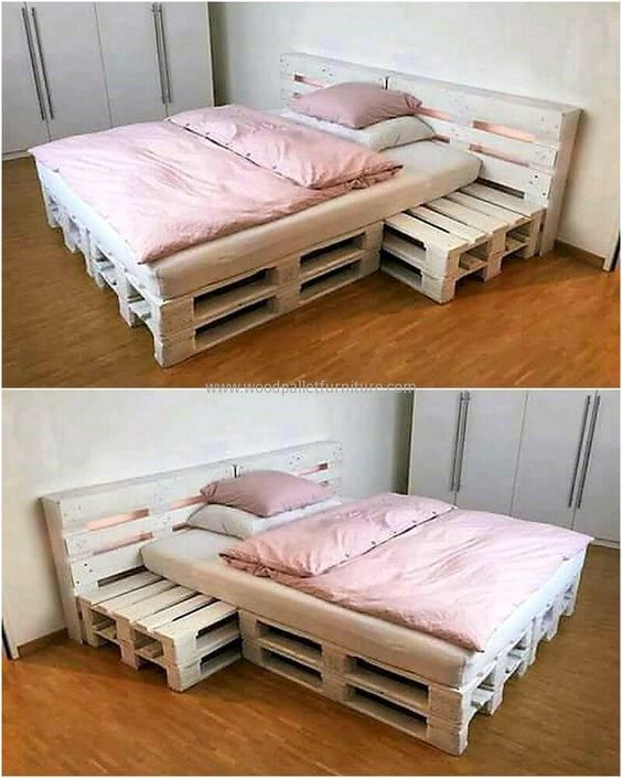 Photo of Creative creations with recycled wooden pallets #bedroomdecoratingideas #holzpal …