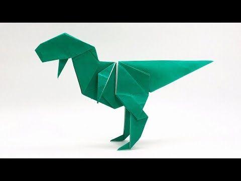 Photo of 恐竜折り紙「ティラノサウルス」(さくB)Origami Tyrannosaurus (sakuB)