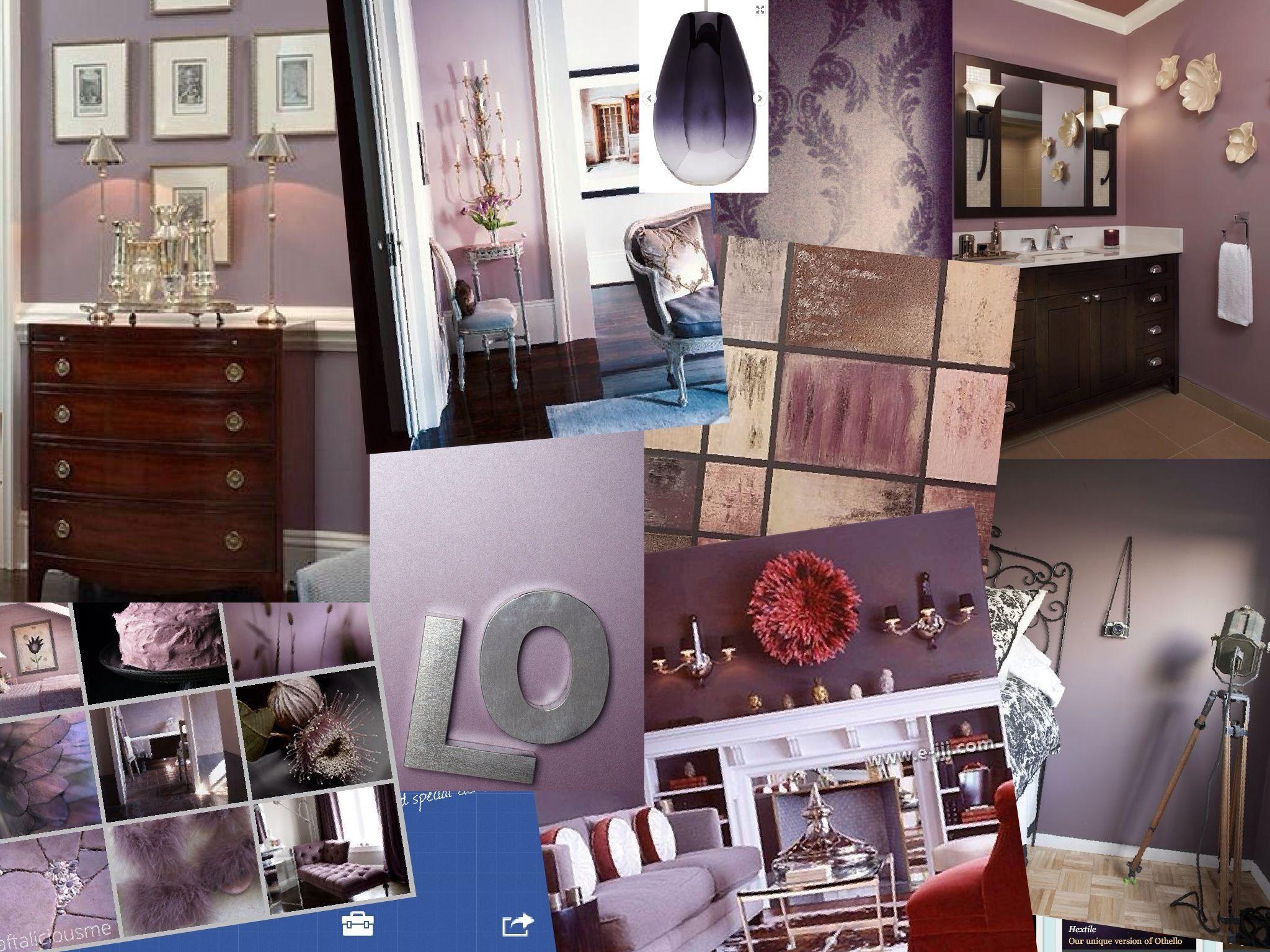 Mauve, purple mood board | Dream bedroom, Home decor, House