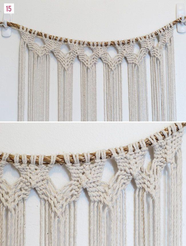 diy macrame hanging wedding trends green weddings and wedding blog. Black Bedroom Furniture Sets. Home Design Ideas