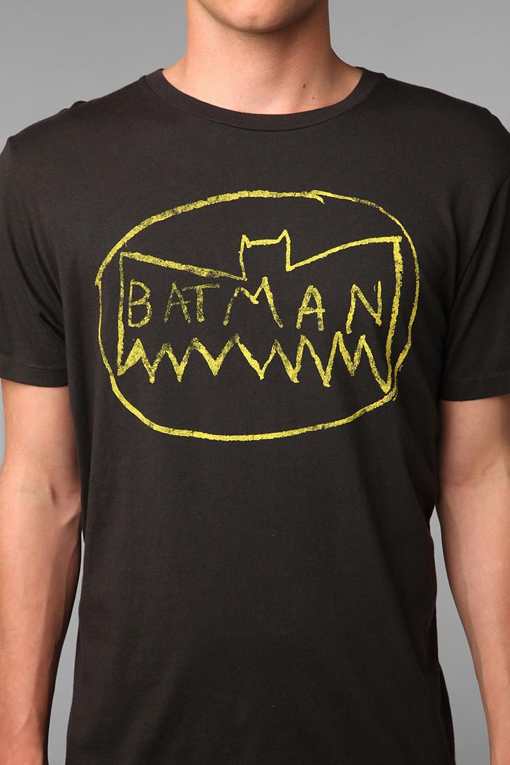Junk Food Messy Batman Logo Tee