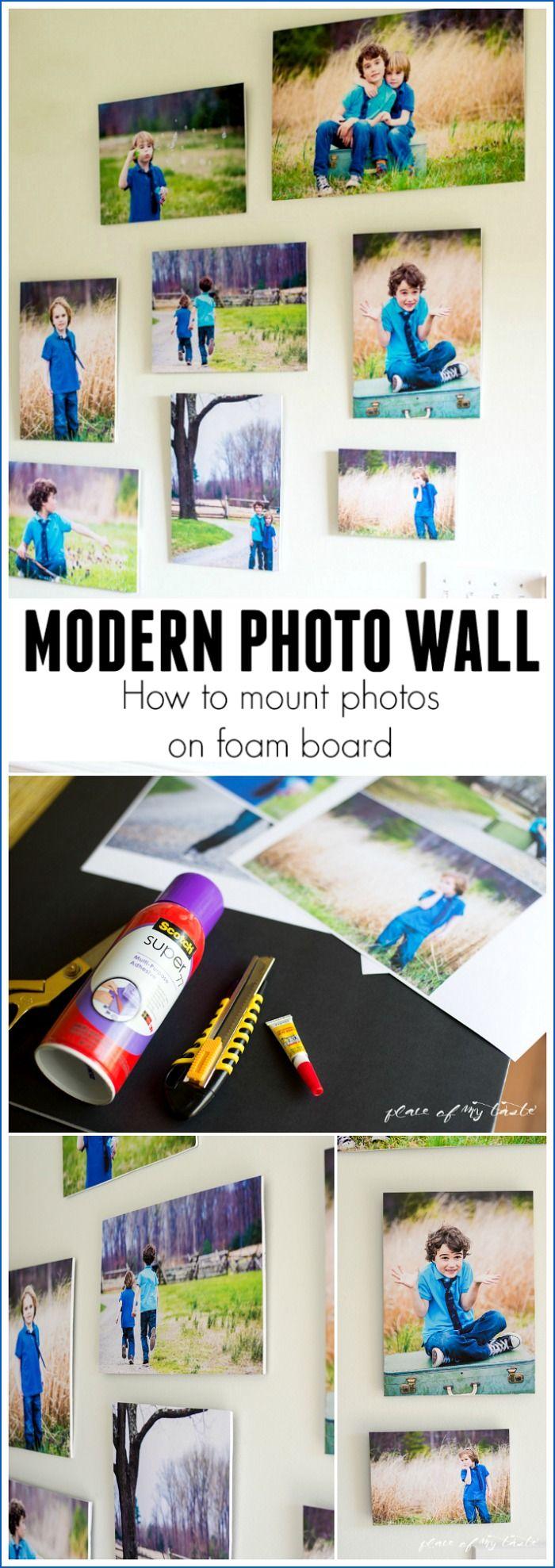 HOW TO MOUNT PHOTOS ON FOAM BOARD   Marcos, Decoración y Cuadro