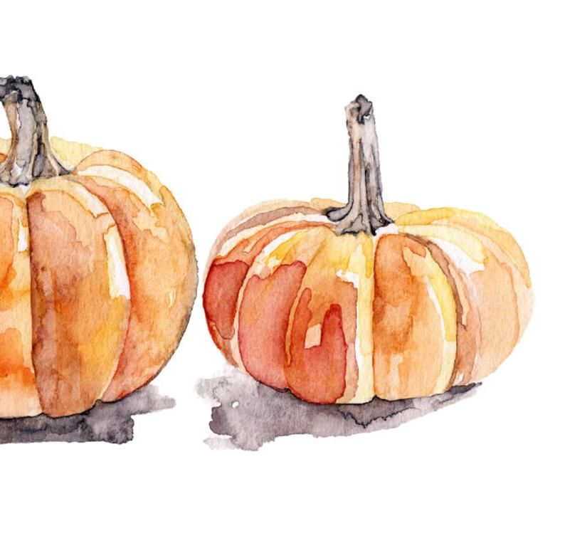 Watercolor Pumpkins Print - Painting Titled,Three Pumpkins, Fall Decor, Orange, Halloween, Pumpkin Decor, Fall Prints, Pumpkin Painting
