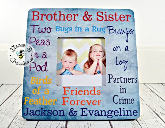 Siblings Picture Frame Brother Sister Frame Mothers Day Gift