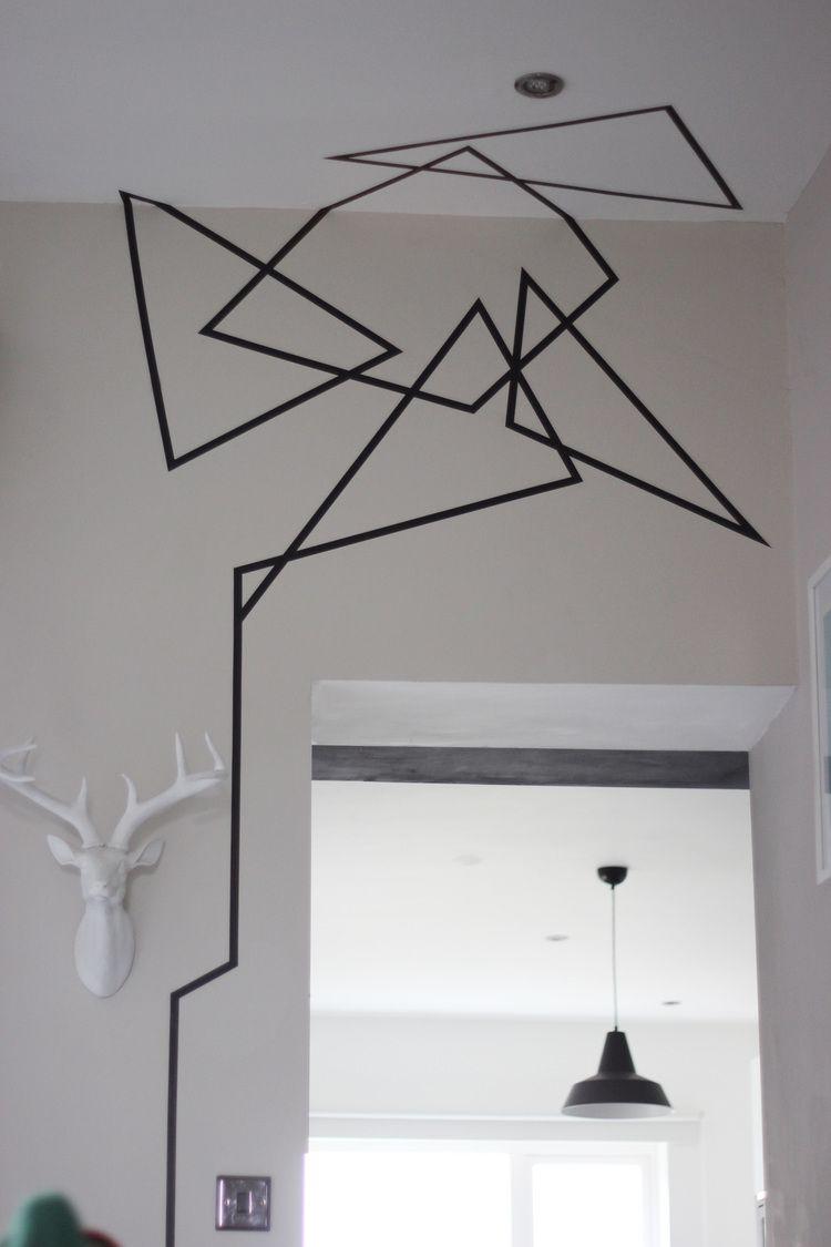 Wandgestaltung Mit Klebeband 40 diy apartment decorating ideas on a budget | room ideas
