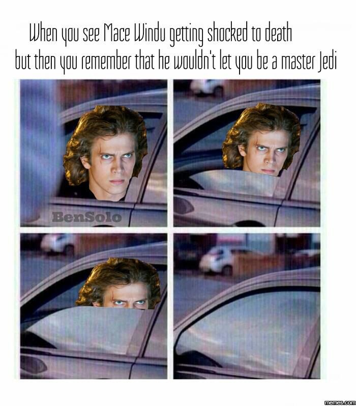 When you see Mace Windu getting shocked to death