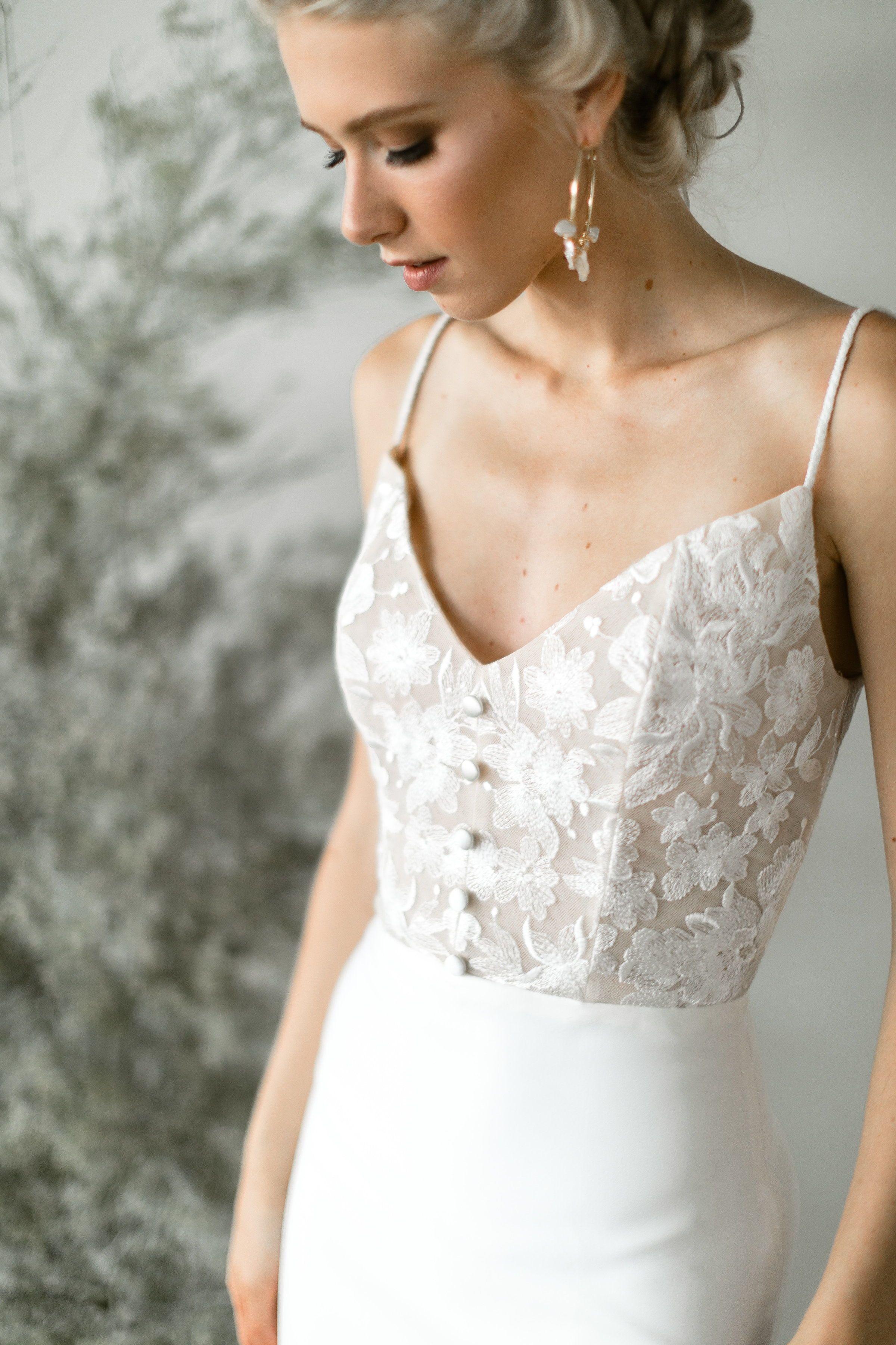 Simple modern wedding dress  Kenwood  Tara Latour bridal Rose and Williams by Tara Latour Rose