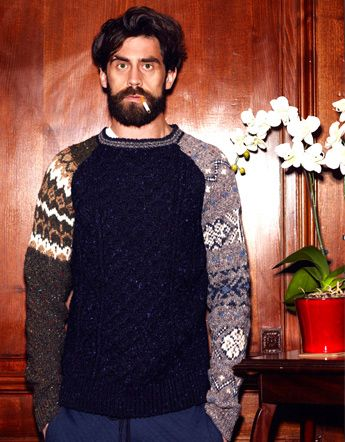 men's fashion & style - Casely-Hayford Fall/Winter 2012 Lookbook Nice knitted sweater :-)