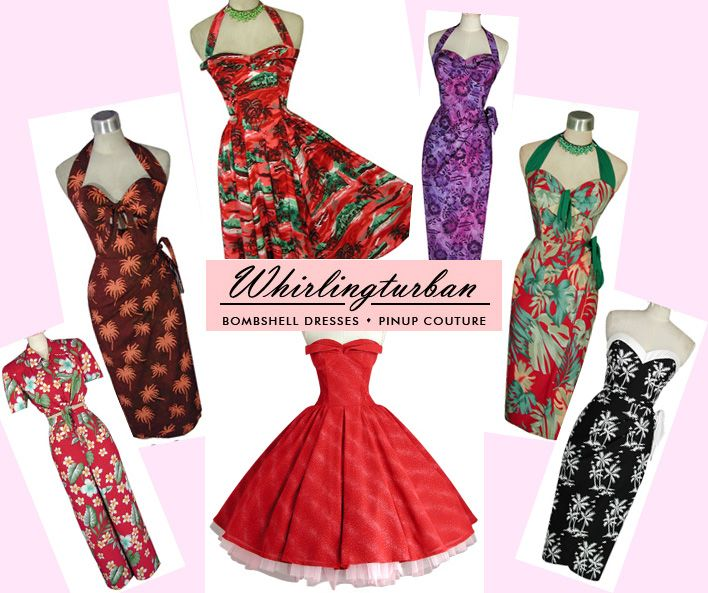 Image Detail for - Whirling Turban custom pinup dresses / 214.39 KB ...