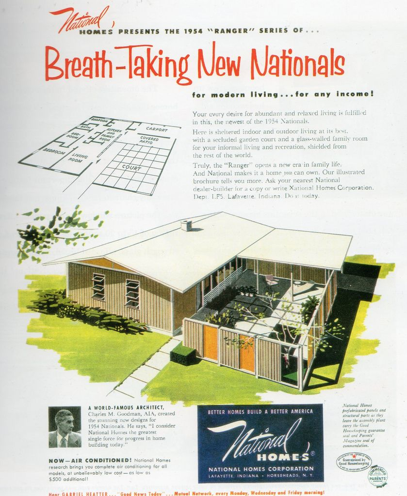 1954 National Homes Vintage House Plans House Plans With