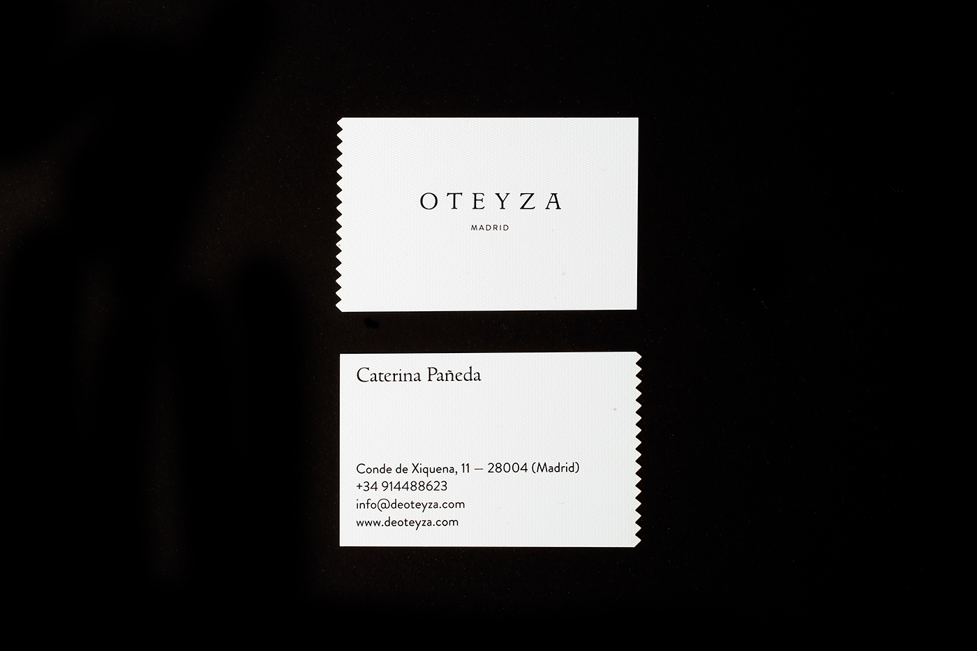 Logo and business card design for Oteyza Tailoring. | branding ...