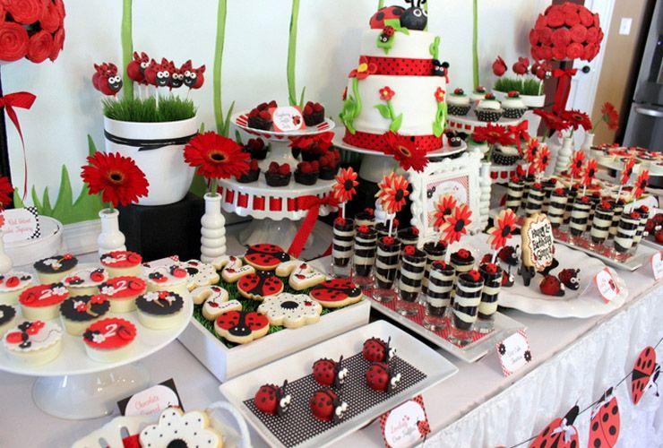 ladybug birthday party centerpiece Featured Ladybug Themed