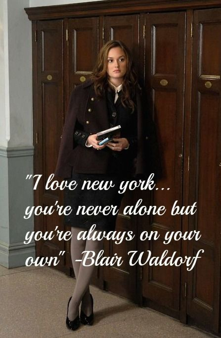 Blair Waldorf this is why i can't wait till NY is my home