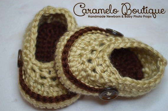 Crochet Baby Boy Shoes-Baby Boy Loafers-Baby by CarameloBoutique