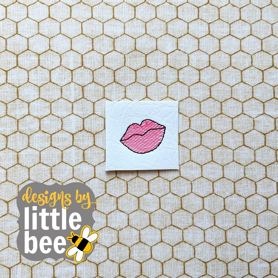 Tiny lips embroidery design current embroidery designs