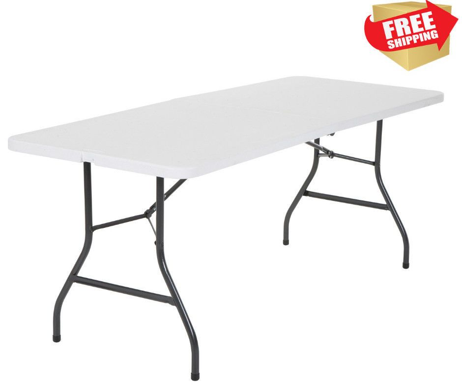 Cosco Office Centerfold Folding Table White 8 Foot Portable Plastic Home Party: $57.63 End Date: Tuesday Dec-18-2018 19:25:31 PST Buy It\u2026
