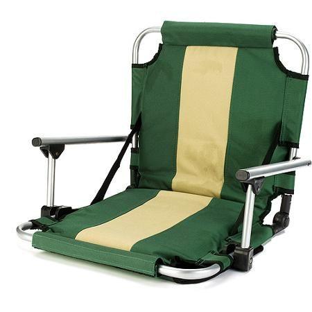 stansport folding stadium seat with arms, green | kayak рыбалка